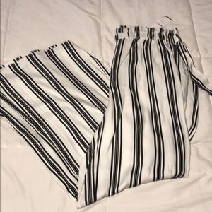 Striped black and white pant